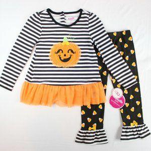 3/$60 Nannette Girls 2 Piece Halloween Outfit Set